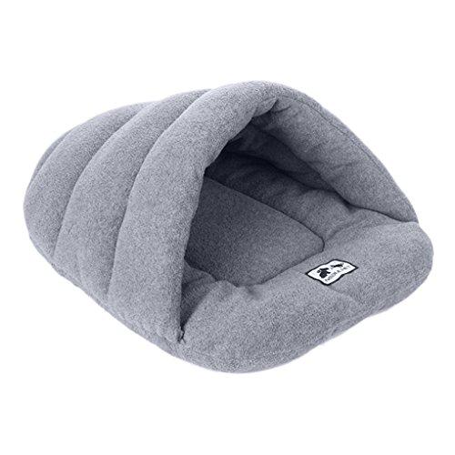Hundehöhle, Luxus-Hunde- oder Katzenhöhle, halbgeschlossener, weicher Hunde-/Katzen-Schlafsack, Kuschelhöhle für Haustiere