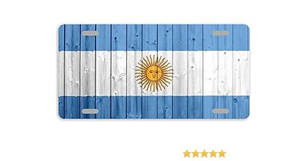 per Donne e Uomini Dant454ty Targhetta Decorativa in Metallo con Bandiera dellArgentina