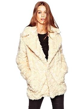 [Patrocinado]Internet Abrigo de piel sintética cálido para mujer New Ladies Chaqueta de cuello de traje salvaje suave Chaqueta...