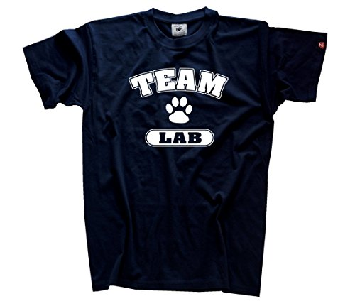 Team Lab Labrador Retriever Hund Hunde T-Shirt Navy L