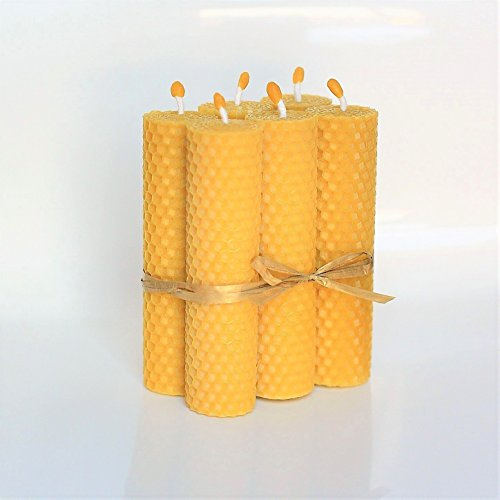 Velas de Cera De Las Abejas Tamano 13 x 3 cm 100% Naturales Aroma De M