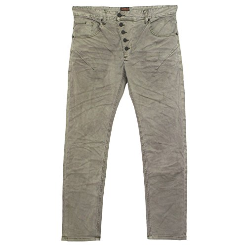M.O.D Miracle of Denim, Tom Slim, Herren Jeans Hose, Gabardine Stretch, green oil washed, W 33 L 32 [19560] (Slim Gabardine)