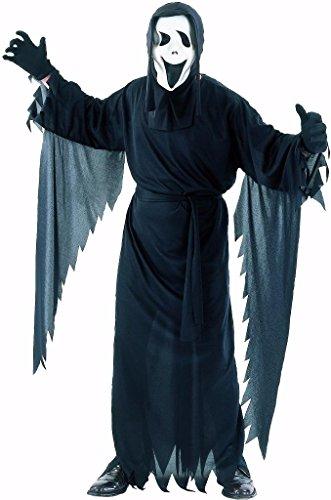 Halloween Kostüme Toga (YOU LOOK UGLY TODAY Karneval Halloween Geist Maske Kostüm Gespenst Horror Kostüme Costumes für Herren Erwachsene - M/L -)