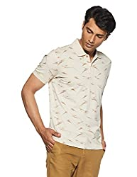John Players Mens T-Shirt (8902986918466_JCMCTSA160012_Small_Beige)