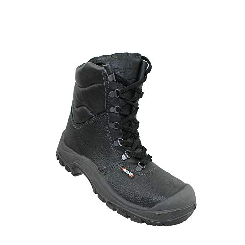 Auda Sumatra Cap SA S3 CI Sicherheitsschuhe Arbeitsschuhe Trekkingschuhe Stiefel Schwarz, Größe:47 EU -
