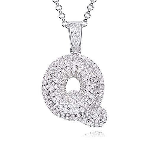 Aienid Schmuck Halskette Set Silber 925 Kupfer Halskette Damen Silber Halskette Silber Für Frauen Q