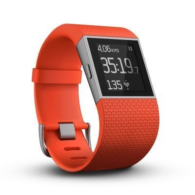 Fitbit Surge Smart Watch with Heart Rate Monitor Large Tangerine (International Version)