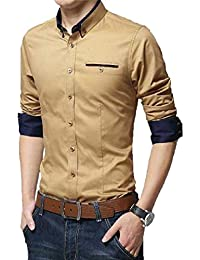 Pearl Ocean Men's Satin Shirt (Sandy Brown)