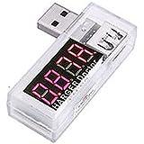 QUMOX Tension USB actuel testeur d'alimentation de batterie mobile blanc
