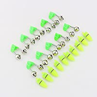 20 Piezas de Pesca de Alarma LED Doble Campana Pesca Accesorio de Pesca Nocturna Peces Barra de Mordedura Anillo de Alarma con Luz