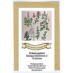 Samen - Saatgutsortiment - Set - Mix - Mischung - Kräutergarten 2-12 Sorten - ca. 900 Samen