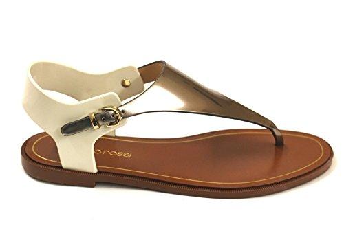 sergio-rossi-sandali-donna-a74480biancooro-pvc-bianco-oro