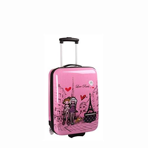 madisson-valigia-bagaglio-a-mano-rigida-a-2-ruote-50-cm-rose-rosato-f55018-love-paris