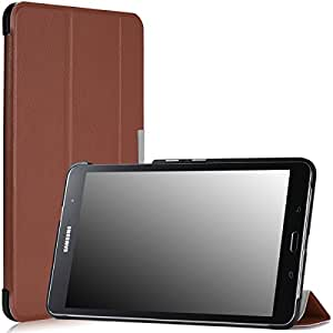 Moko Samsung Galaxy Tab PRO 8.4 Case - Ultra Slim Lightweight Smart-shell Stand Cover Case for Galaxy TabPRO 8.4 Android Tablet, COFFEE (With Smart Cover Auto Wake / Sleep. WILL NOT Fit Samsung Galaxy Tab 4 8.0)