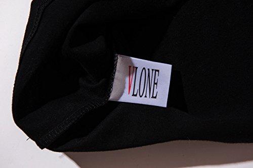 BOMOVO Herren VLONE T-Shirt Adult Ultra Cotton 2000, Einfarbig Schwarz