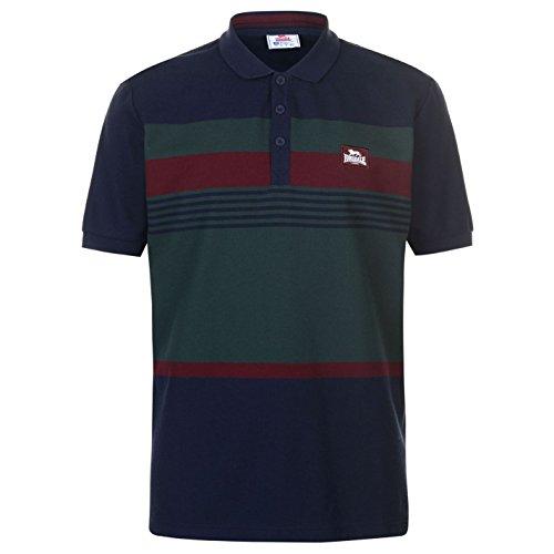 Lonsdale Mens Stripe Polo Shirt