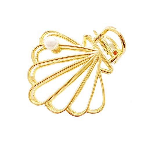 Gjyia Minimalistische Hohle geometrische Haar Klaue Clip Frauen Vintage Metallic Gold Drawbench Pferdeschwanz Halter Clamp Dusche waschen Gesicht Haarspange