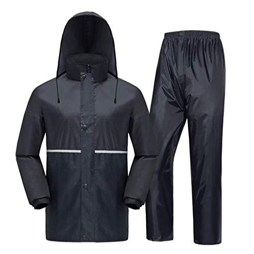 MKJYDM Regenjacke Regenhose Erwachsene Anzug Regenbekleidung Split reflektierende Männer und Frauen reiten 2 Stück Regenmantel (Size : XXXL)