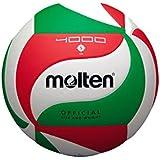 Molten V5M4000 Ballon de volley-ball Blanc/vert/rouge Taille 5