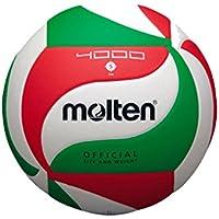 Molten VM4000 - Balón de Voleibol, Blanco, Rojo y verde, Talla 5