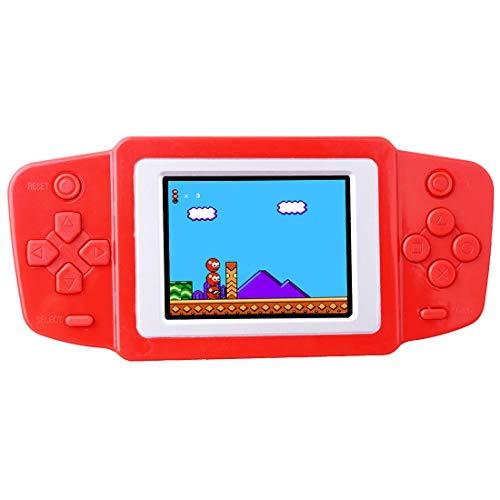 """ZHISHAN Handheld Spielkonsole Retro Tragbare Spiele Konsolen inkl. 268 80er Klassische Vintage Video Spielen 2.5 \""""LCD HD Bildschirm Arcade Erholung System Geburtstagsgeschenk für Kinder (Rot"""