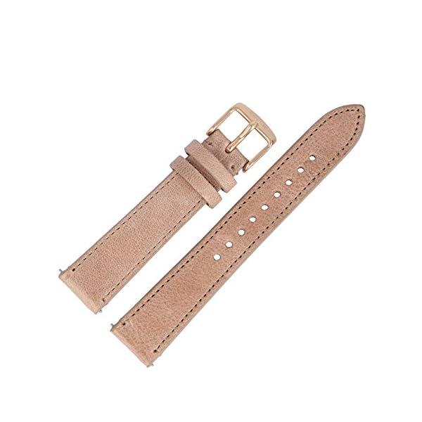 Fossil Uhrenarmband 18mm Leder Beige - ES-3358 | LB-ES3358