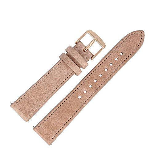 Fossil Uhrenarmband 18mm Leder Beige - ES-3358   LB-ES3358 (Fossil Uhrenarmbänder Für Frauen)