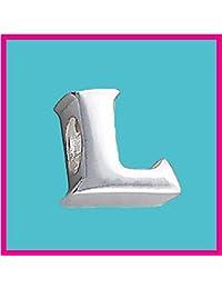 Plateado cuenta de letra L auténtica plata de ley 925, cuenta de letra para pulseras y cadenas tipo Pandora y Troll Chamilia - Filoro