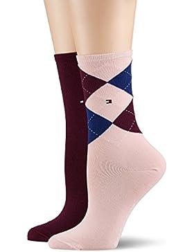 Tommy Hilfiger Damen Socken Check Sock 2p, 100 DEN, 2er Pack