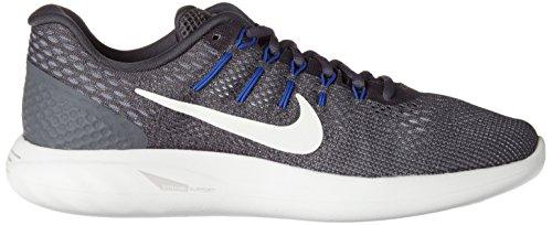 Nike Lunarglide 8, Scarpe da Corsa Uomo Grigio (Dk Grey/Summit White/Wolf Grey/Paramount Blue/Med Blue)