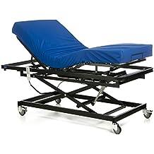 GERIALIFE® Cama articulada geriátrica hospitalaria con carro elevador (90x190 con colchon)