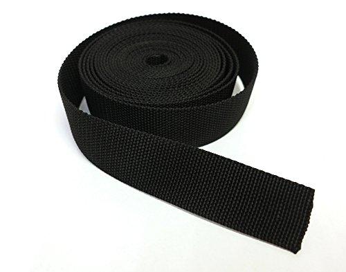 Band Nylon Gurt für Helme, Taschen, Rucksäcke, Mode und Zubehör/Schwarz von verschiedenen Längen (2 m, 5 m, 10 m, 20 m, 30 m, 40 m, 50 m) // h cm 4,0 - Dicke 2,2 mm (2 m) -