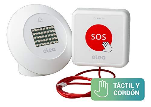 Elea Soluciones - Smart Kit 1| Kit Alarma Inalambrica Baño Adaptado con Pulsador de Emergencia y Baliza Luminosa y Acustica| Instalación rápida y sin Cables