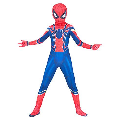 nihiug Avengers 3 Eisen Spiderman Siamese Strumpfhosen Cosplay Halloween Kostüm Cos Kleidung,A-Child-Height(129.1-135.5cm)