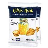 NortemBio Acido Citrico 1 Kg (2x500g). La Migliore Qualità Alimentare. Input Biologico. Polvere, 100% Puro. E-Book Incluso.