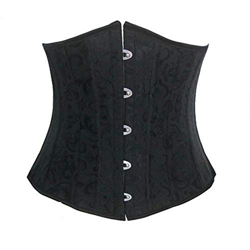 (DAMENGXIANG Weibliche Gotischen Speicher Aus Legiertem Stahl der Leistungsstarke Taille Taille Schnüren Korsett. Schwarz XXL)