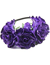 6f38bae19d99 Merroyal Women s Hawaiian Stretch Flower Headband for Garland Party