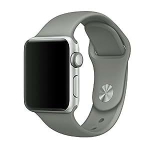 Zyra sport Band per Apple Watch 38mm 42mm, cinturino in silicone morbido sostituzione iWatch fasce per Apple Watch sport, serie 2, serie 1, S/M, M/L, donna, Concrete