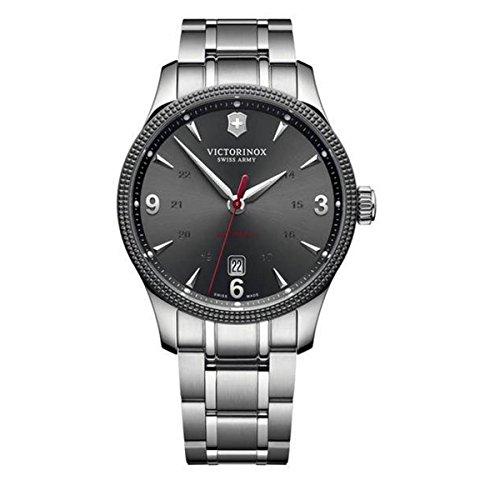 Victorinox Swiss Army Unisex Analog Automatik Uhr mit Edelstahl Armband 241714.1 (Herren Watch Swiss Army)