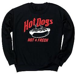 HippoWarehouse HOT DOGS HOT AND FRESH unisex jumper sweatshirt pullover