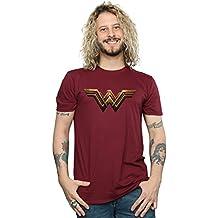 DC Comics Hombre Justice League Movie Wonder Woman Emblem Camiseta KyCx03