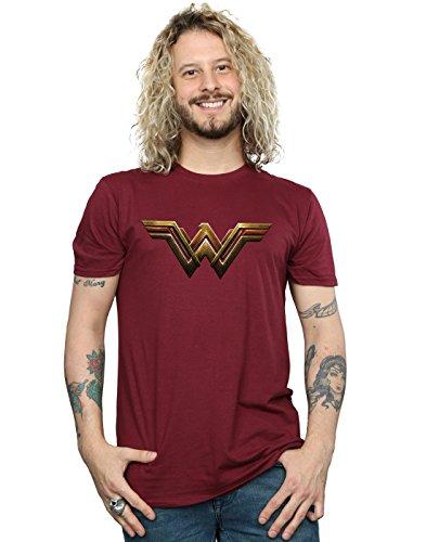 DC Comics Men's Justice League Movie Wonder Woman Emblem T-Shirt