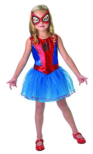 Ultimate Spiderman Kinder Kostüm Spidergirl Kleid und Maske Gr.M
