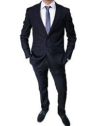 Elegante abito da uomo blu scuro sartoriale blu completo vestito casual slim fit aderente