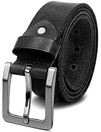 ROYALZ Vintage 4mm Cinturón de cuero de búfalo robusto 4mm de cuero para  hombre 0147b3ad05a0