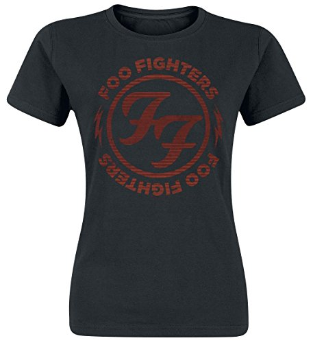 Foo Fighters Logo Red Circle Maglia donna nero S