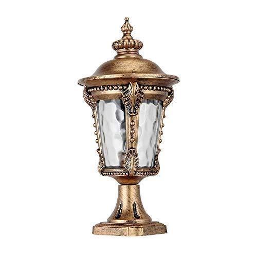 Asian Outdoor Stehleuchte Leuchte Bronze Glassäule Post Laterne for Außen Haus Veranda Terrasse Tischlampe for Aluminiumguss Säule Lampe -