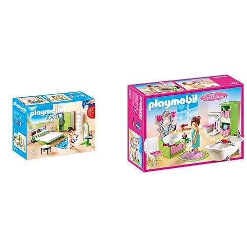 Playmobil 9271 - Schlafzimmer &  5307 - Romantik-Bad