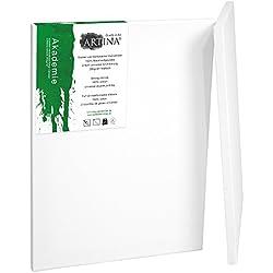 Artina Akademie - Set de 2 piezas - 70x100 cm - Lienzos blancos para pintar - Con bastidor de alta calidad - 280g/m²