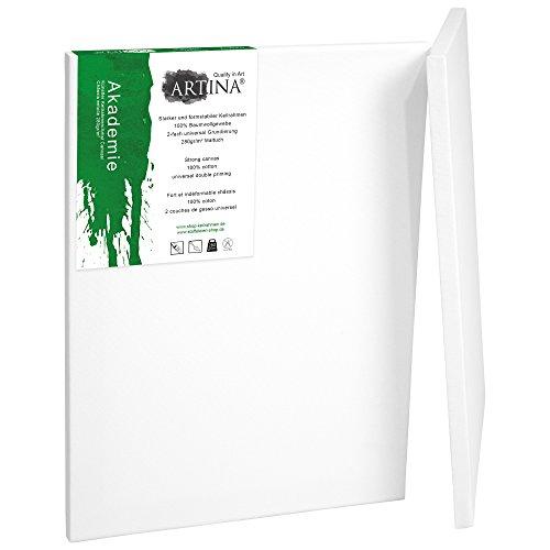 Artina 2er Set - Leinwand aus 100% Baumwolle auf stabilem Keilrahmen in Akademie Qualität - 280...